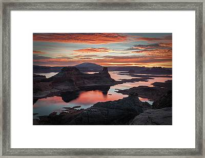 Sunrise At Lake Powell Framed Print by James Udall