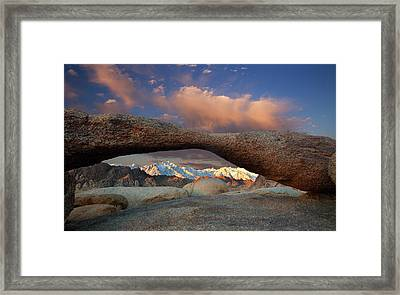 Sunrise At Lathe Arch Framed Print by Keith Kapple