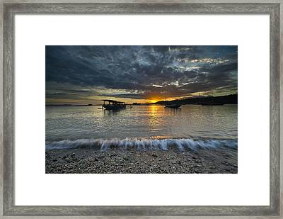 Sunrise At Lombok Framed Print