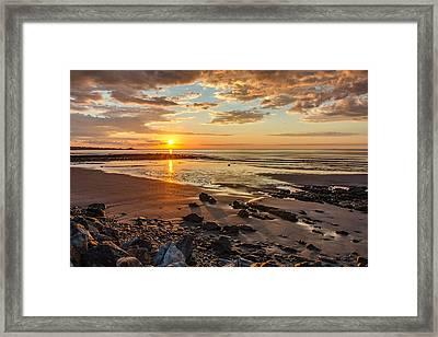 Sunrise At Long Sands Framed Print