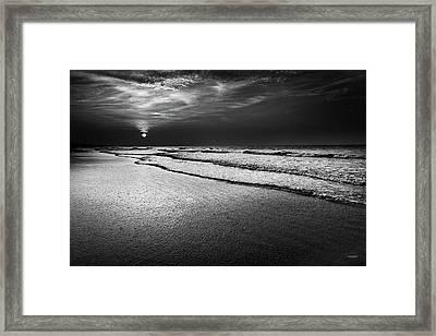 Sunrise At Low Tide Framed Print