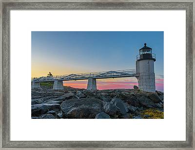 Sunrise At Marshall Point Framed Print