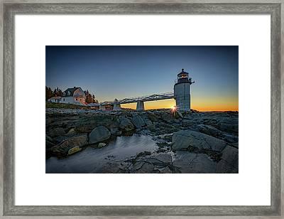 Sunrise At Marshall Point Framed Print by Rick Berk