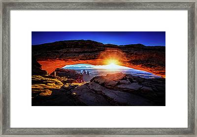 Sunrise At Mesa Arch Framed Print