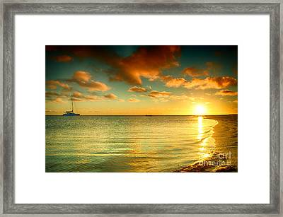 Sunrise At Monkey Mia Framed Print by Yew Kwang