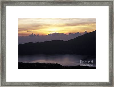 Sunrise At Mount Batur Bali Indonesia Framed Print by Gordon Wood