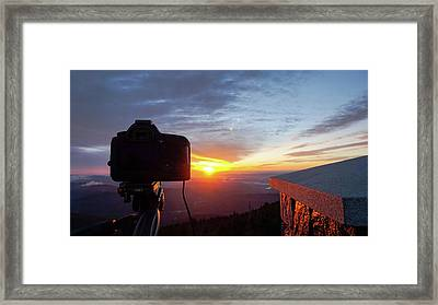 Sunrise At Mount Mitchell Framed Print by Daniel Lowe