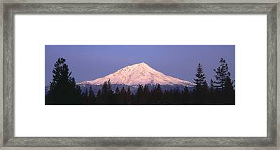 Sunrise At Mount Shasta, California Framed Print by Panoramic Images