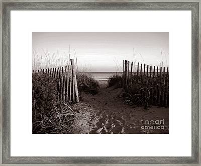 Sunrise At Myrtle Beach Sc Framed Print by Susanne Van Hulst