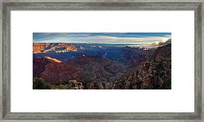 Sunrise At Navajo Point Framed Print