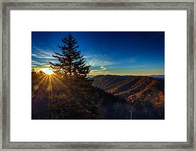 Sunrise At Newfound Gap Framed Print by Rick Berk