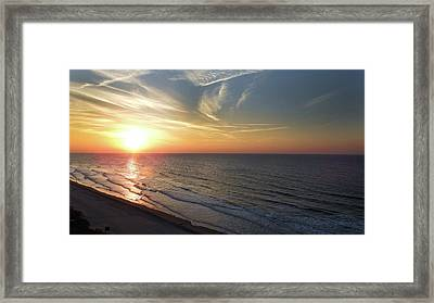 Sunrise At North  Myrtle Beach Framed Print