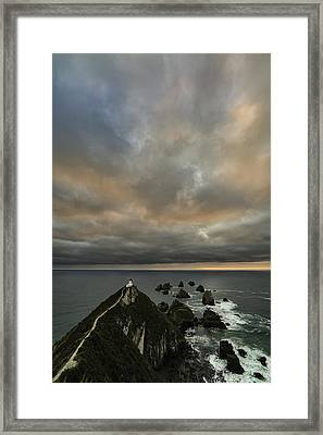 Sunrise At Nugget Point Framed Print by Ian Riddler