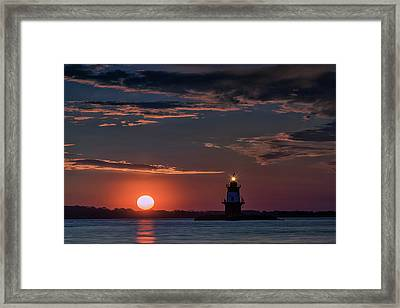 Sunrise At Orient Point Framed Print
