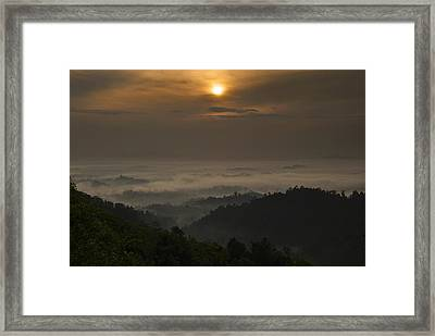 Sunrise At Panorama Hill Framed Print by Ng Hock How