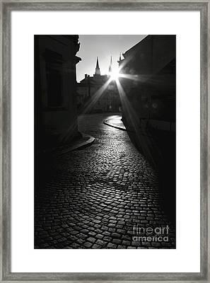 Sunrise At Prague Framed Print by Hideaki Sakurai