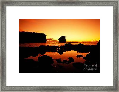 Sunrise At Puu Pehe Framed Print by Ron Dahlquist - Printscapes