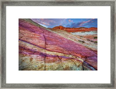 Framed Print featuring the photograph Sunrise At Rainbow Rock by Darren White