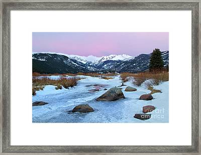 Sunrise At Rocky Mountain National Park Framed Print by Ronda Kimbrow