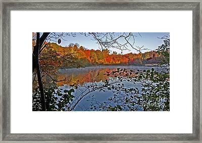Sunrise At Schooleys Mountain Framed Print by Robert Pilkington