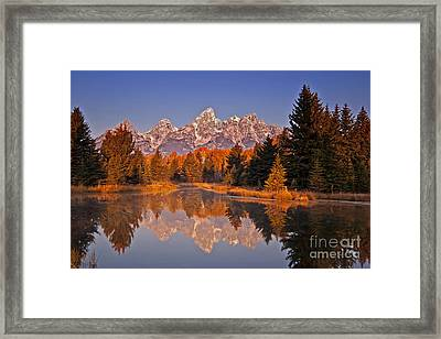 Sunrise At Schwabacher Landing  Framed Print