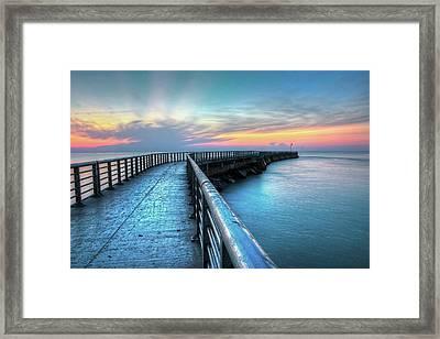 Sunrise At Sebastian Inlet Framed Print