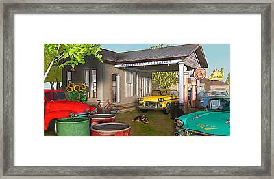 Framed Print featuring the photograph Sunrise At Smittys by Peter J Sucy