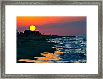 Sunrise At St. George Island Florida Framed Print