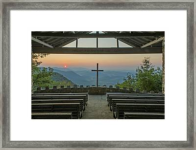 Sunrise At Symmes Chapel Aka Pretty Place  Greenville Sc Framed Print
