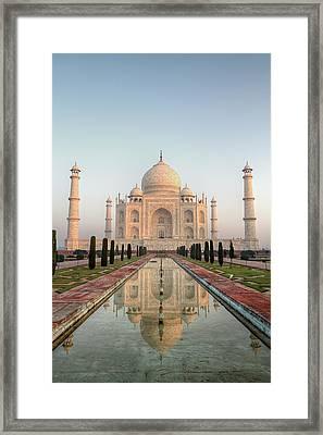 Sunrise At Taj Framed Print