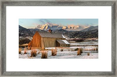 Sunrise At Tate Barn Framed Print