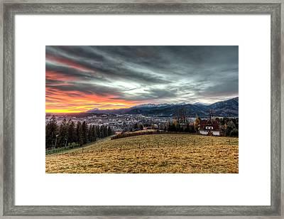 Sunrise At Tatra Mountains - Zakopane Framed Print