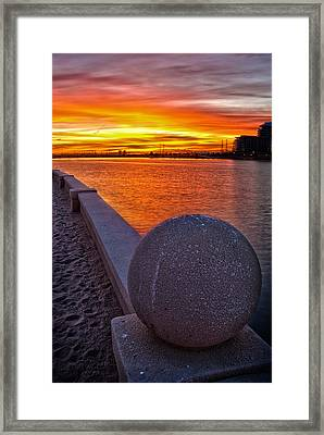 Sunrise At Tempe Town Lake Framed Print by Dave Dilli