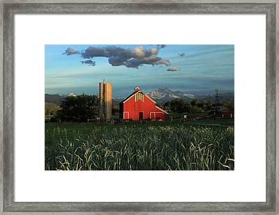 Sunrise At The Barn Framed Print