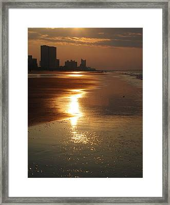 Sunrise At The Beach Framed Print