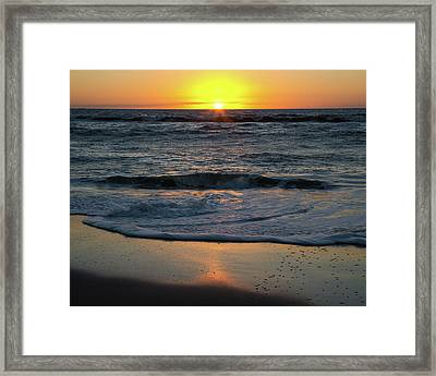 Sunrise At The Beach Framed Print