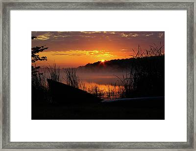 Sunrise At The Boat Launch Framed Print
