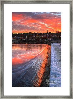 Sunrise At The Dam Framed Print
