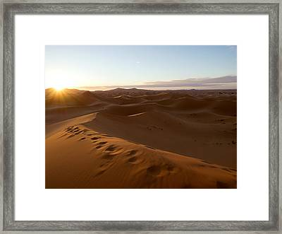 Sunrise At The Erg Chebbi Dunes Framed Print by Panoramic Images