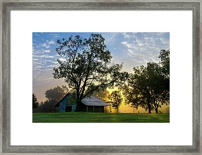 Sunrise At The Farm Framed Print by George Randy Bass