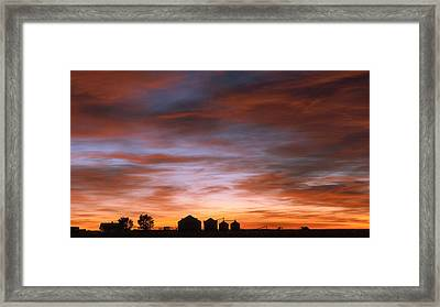 Framed Print featuring the photograph Sunrise At The Farm by Monte Stevens