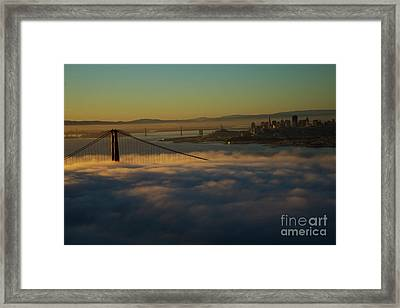 Framed Print featuring the photograph Sunrise At The Golden Gate by David Bearden