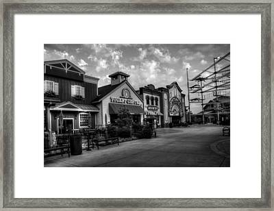 Sunrise At The Island In Black And White Framed Print