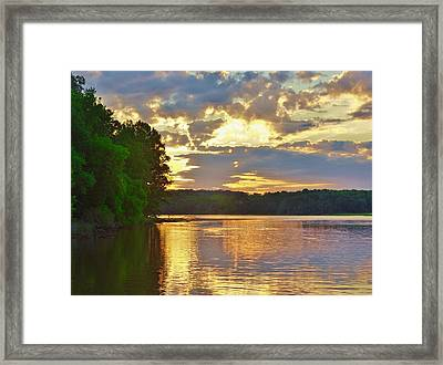 Sunrise At The Landing Framed Print