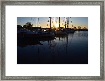 Sunrise At The Marina  Framed Print