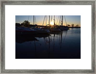 Sunrise At The Marina  Framed Print by Lyle Crump