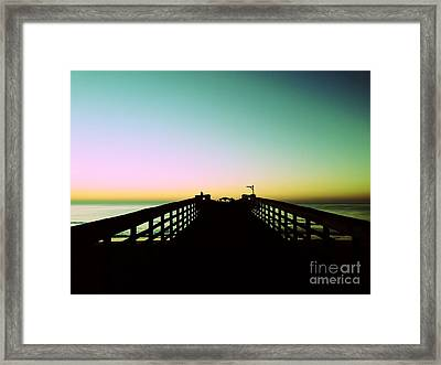Sunrise At The Myrtle Beach State Park Pier In South Carolina Us Framed Print by Vizual Studio