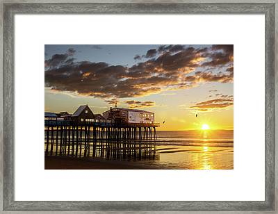 Sunrise At The Pier Framed Print by Shared Perspectives Photography - Jason Baldwin