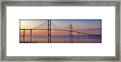 Sunrise At The Sidney Lanier Bridge Framed Print