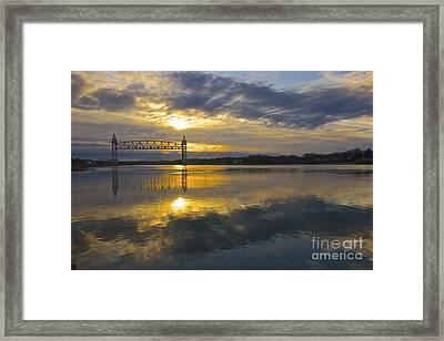 Sunrise At The Train Bridge Framed Print by Amazing Jules